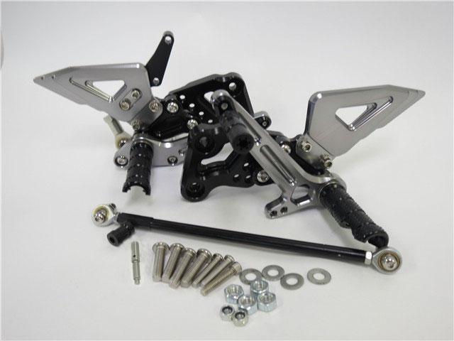 GSX-R125/150 17- GSX-S125/150 17- gsxr125 gsxs125 CNC 調整式 バックステップ 灰