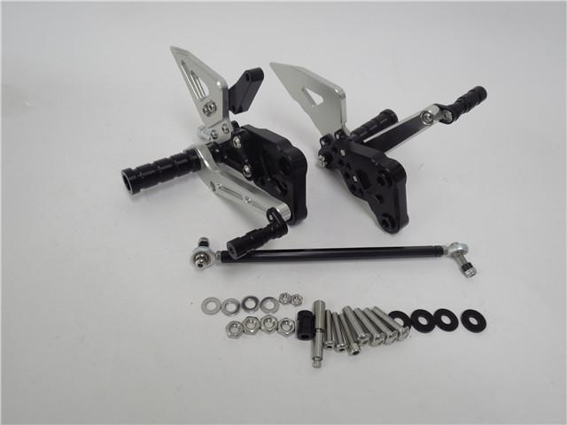 GSX-R125/150 17- GSX-S125/150 17- gsxr125 gsxs125 CNC 調整式 バックステップ 銀