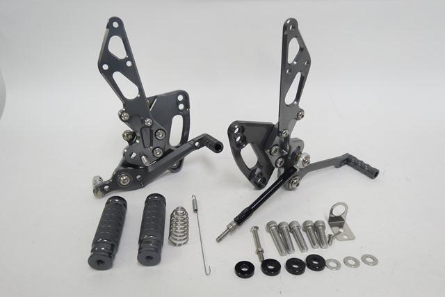 ニンジャ1000 Z1000 2011~2016 ABS 調整式バックステップセット CNC 灰