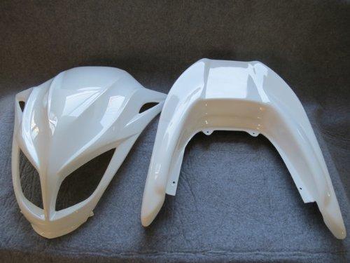 マジェスティ250 SG03J sg03j エアロ2点セット/マスク/スポイラー 白