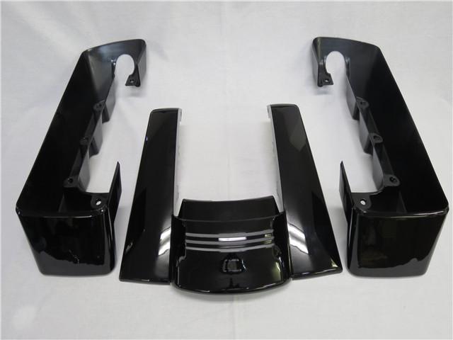 harley ツーリング No Cut Out フェンダーエクステンション&サドルバッグ・エクステンション セット2014-黒