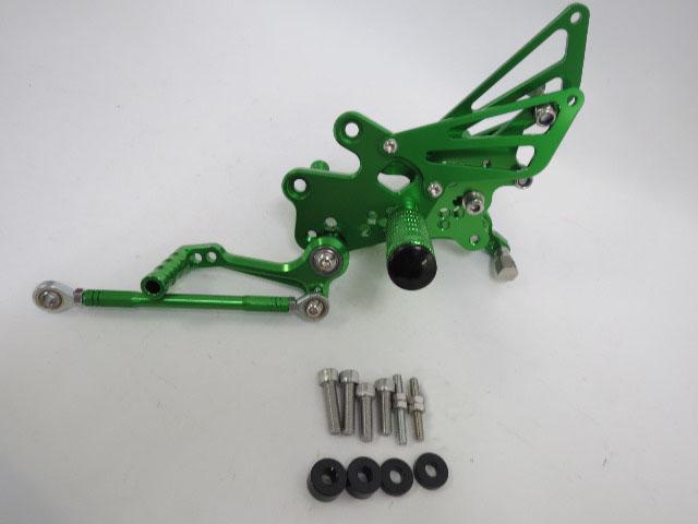 CNC 調整式 ニンジャ EX250 NINJA250R 08-12年バックステップ 緑