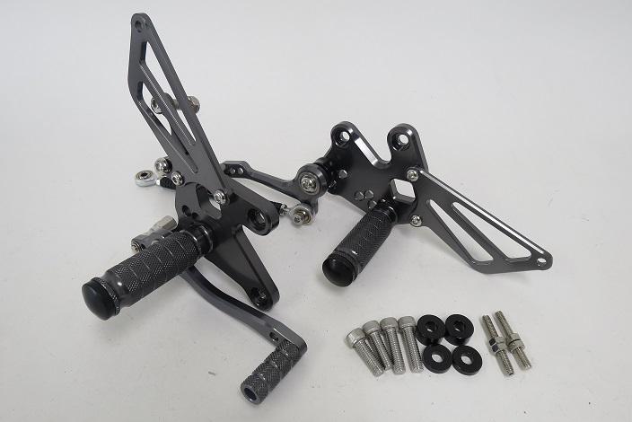 CNC 調整式 ニンジャ EX250 NINJA250R 08-12年バックステップ 灰