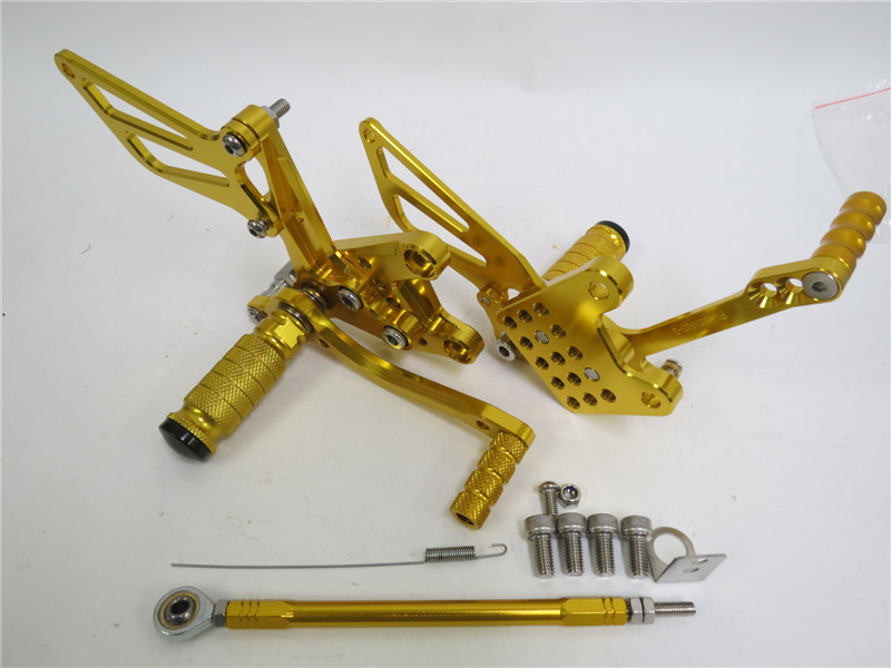 CNC 調整式 gsx-r1000 00-04 gsx-r750 1996-2005 gsx-r600/sv650/s 2000-2005 K1 バックステップ 金