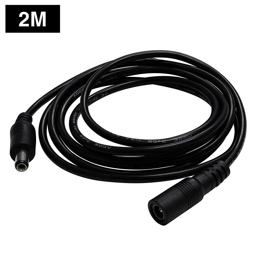 Kaito7427(100本) ACアダプタ延長ケーブル2m 2.1φ