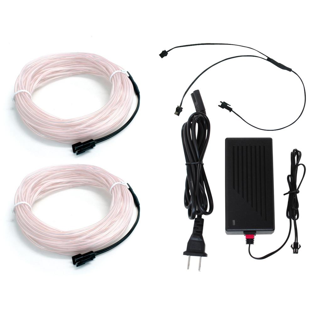 レイアウト自由でイルミネーションに最適 ELワイヤー10m 供え アダプターセット インテリアモデル 2本セット 2.3mm 買収