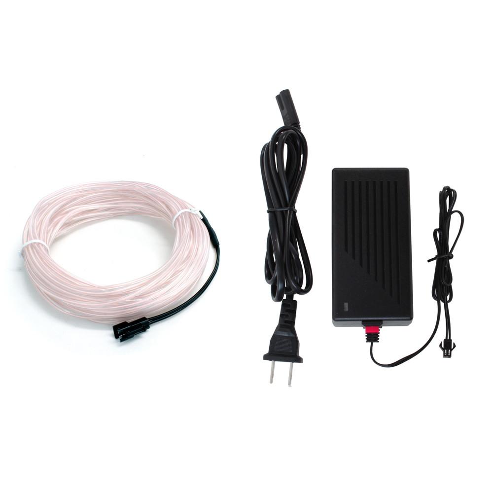 レイアウト自由でイルミネーションに最適 メーカー公式 ELワイヤー15m アダプターセット 超目玉 インテリアモデル 2.3mm 1本セット