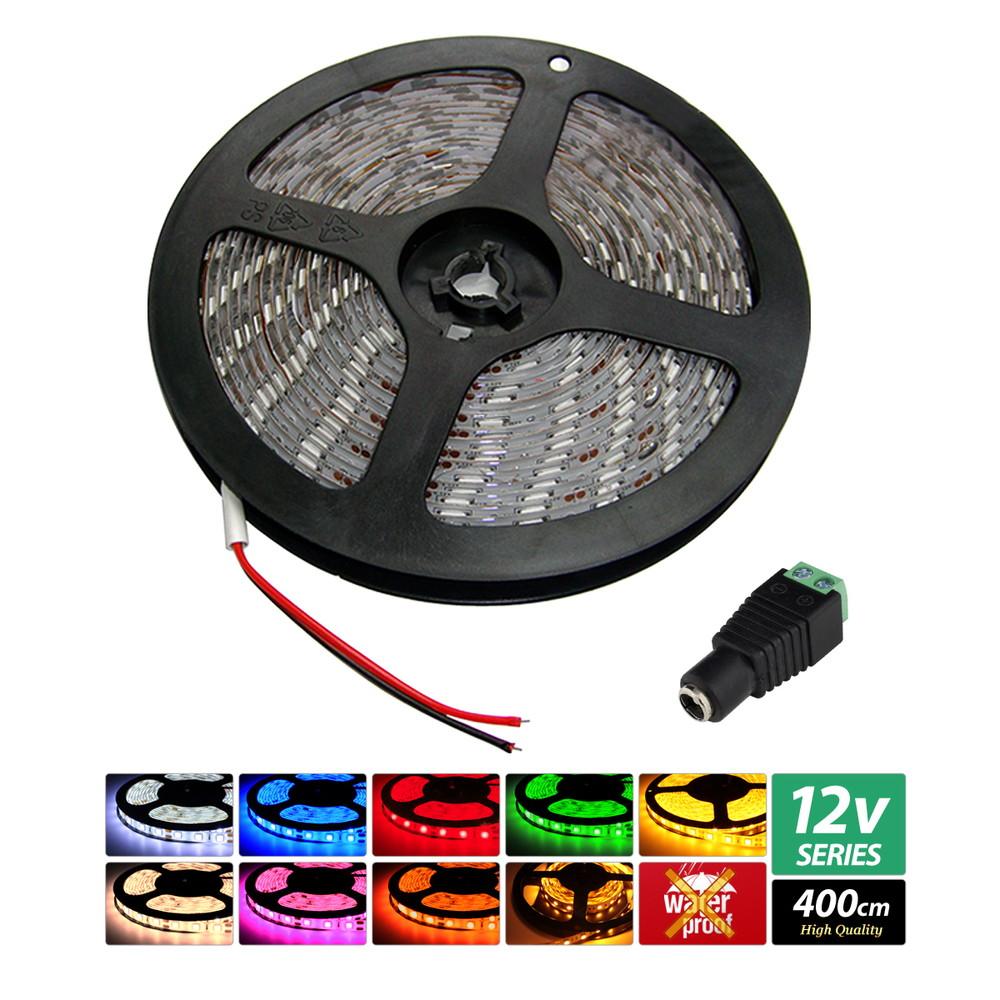 【ハイクオリティ】非防水 LEDインテリアテープライト 3チップ 単体 (100V/12V兼用) 400cm