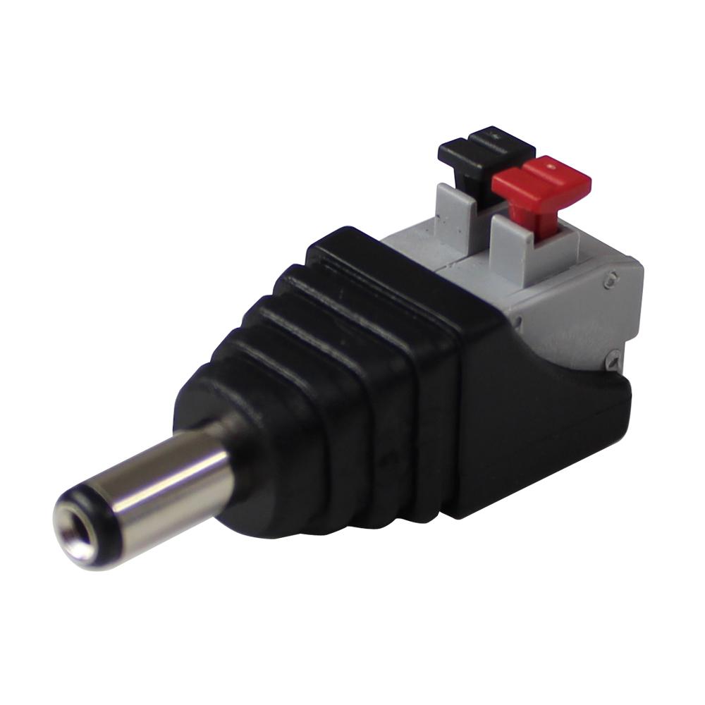Kaito7429(100個) 5.5-2.1φコネクタオス(プッシュ式)