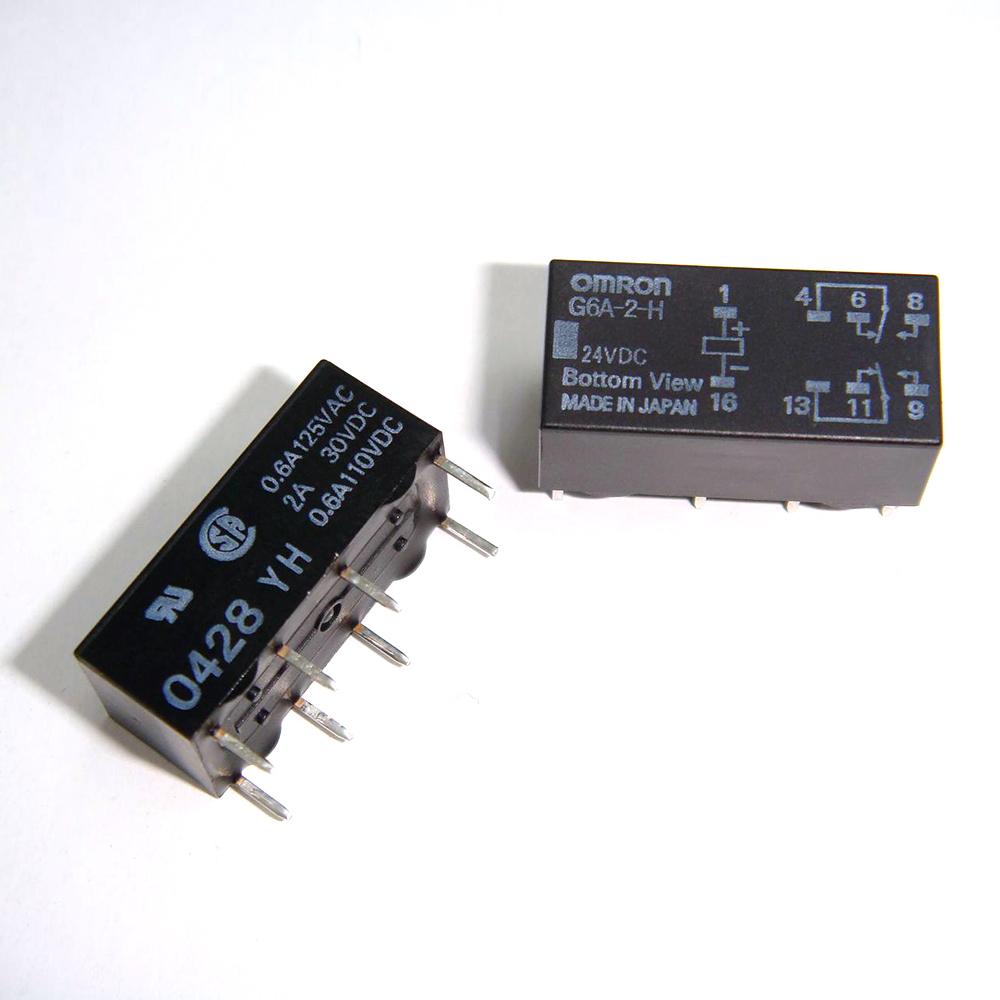Kaito7457(1000個) リレー 24VDC G6A-2-H [OMRON]