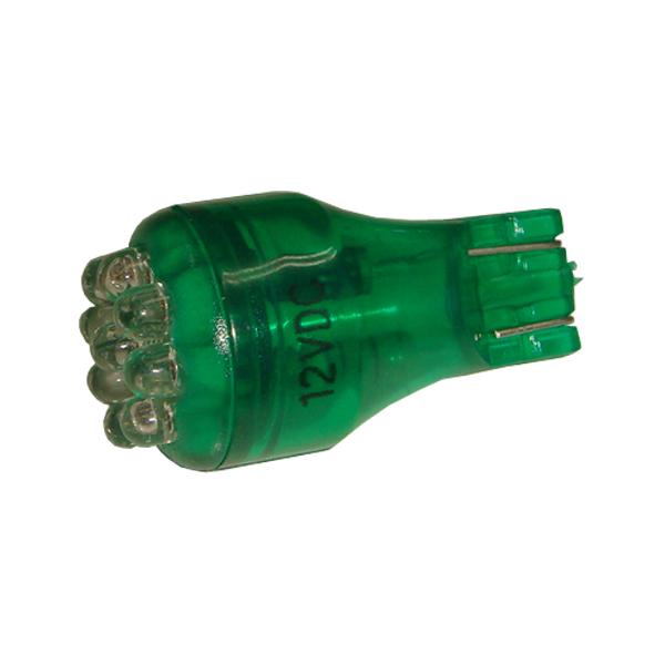 Kaito5202(50個) T15 LED 緑色 ウェッジ球 12V車用