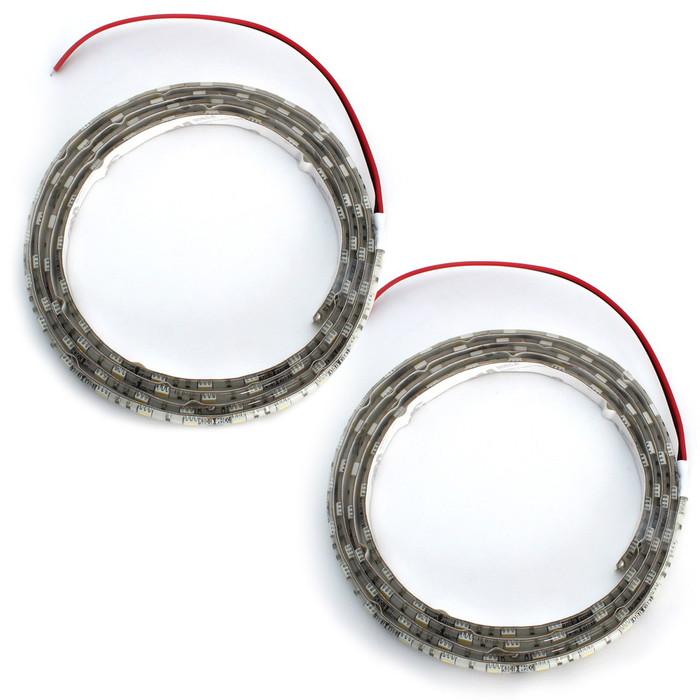 【トレーラー用】防水3チップ 単色LEDテープライト白ベース 12V(250cm×2本)