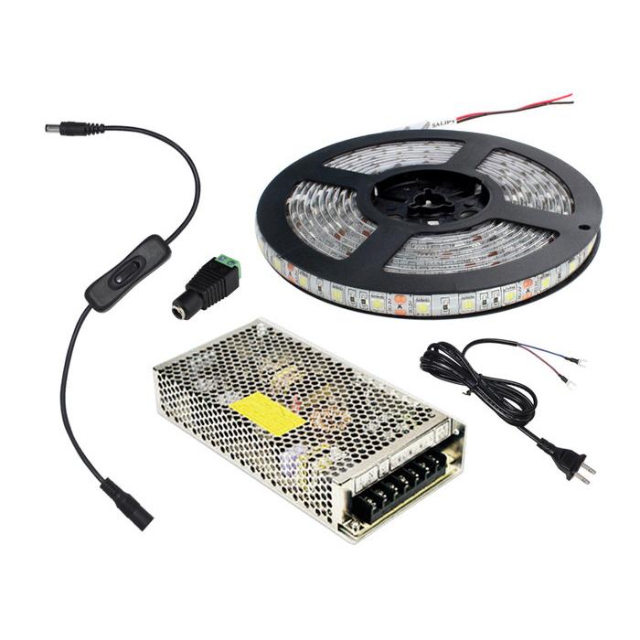 【10m】 防水 24V LEDテープライト(RoHS対応) 3チップ 1本セット [AC100V-DC24V]
