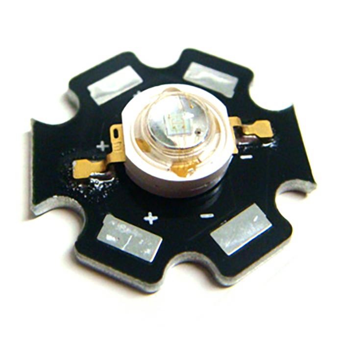 2412(100個) Edison POWER LED 1W 青色 EDEB-1LA1 [星型ヒートシンク付]