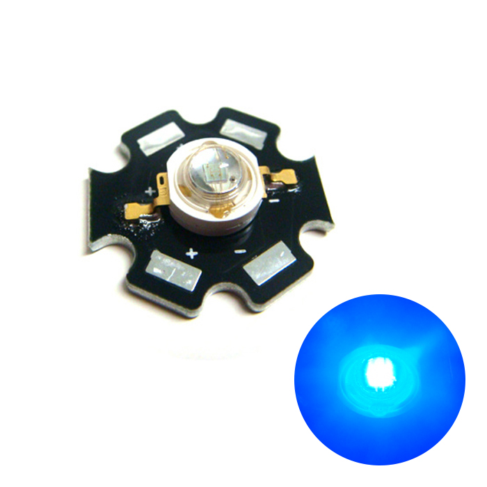 2512(100個) Edison POWER LED 3W 青色 EDEB-3LA1-1 [星型ヒートシンク付]