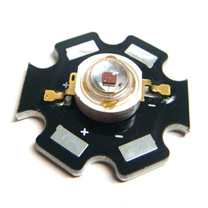 2513(100個) Edison POWER LED 3W 赤色 EDER-3LA3-1 [星型ヒートシンク付]