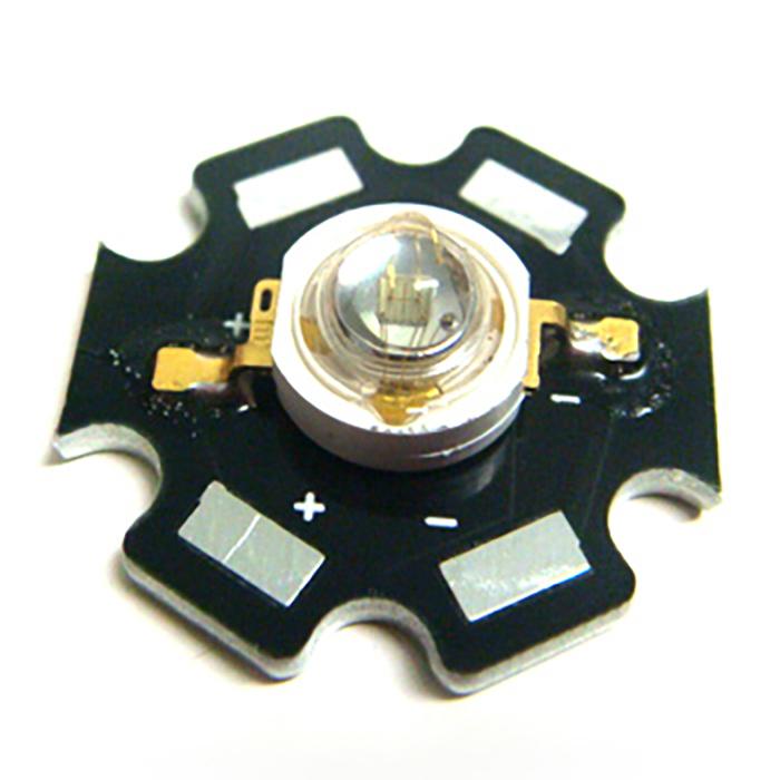 2514(100個) Edison POWER LED 3W 緑色 EDET-3LA1-1 [星型ヒートシンク付]