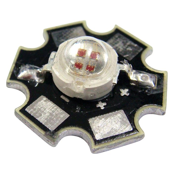 Kaito2611(100個) POWER LED 5W 赤色 200LM 星型ヒートシンク付き