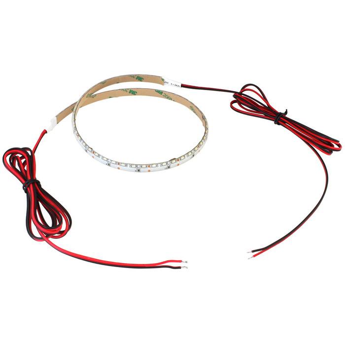 側面発光12V(10本) 防水LEDテープライト 1チップ 120cm (120LED/m) 両端子 [白ベース]