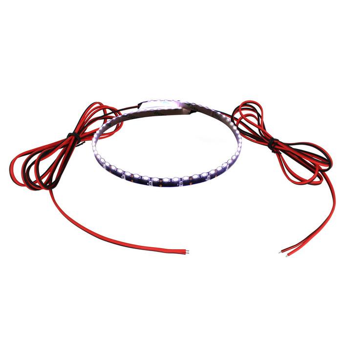 側面発光12V(10本) 防水LEDテープライト 1チップ 500cm (120LED/m) 両端子 [黒ベース]