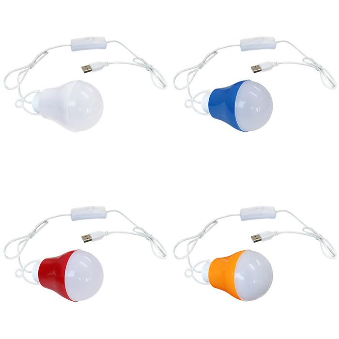 USB5V(50個) 電球バルブ型 ledランプ on/offスイッチ付き [白発光 5W]