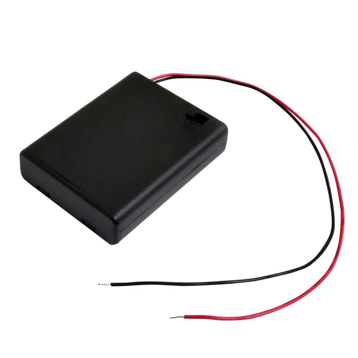 6471 100個 電池ボックス 単3乾電池×3本 マート ケーブル20cm フタ SBH-331AS スイッチ付 安値