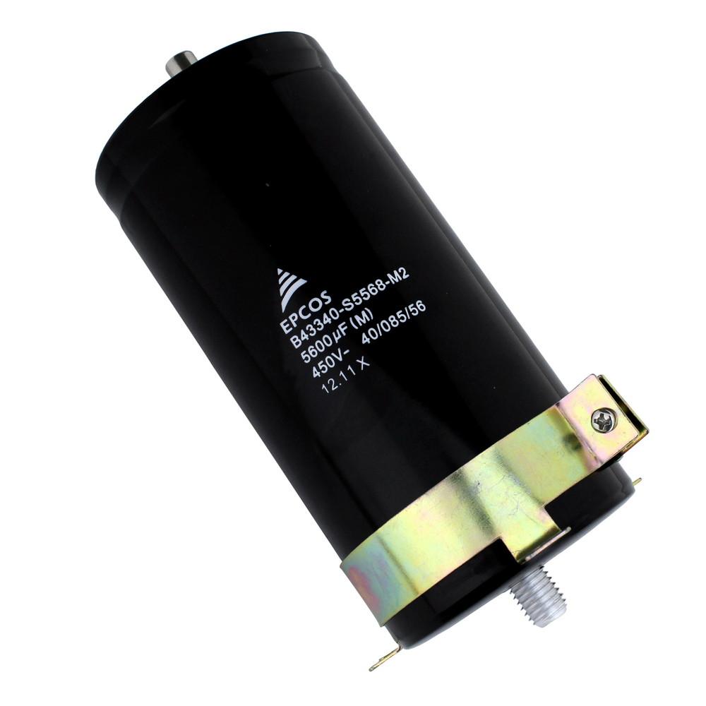 Kaito7249(10個) 電解コンデンサー 450V 5600uF 75×155 [EPCOS] ねじスタッド取り付け