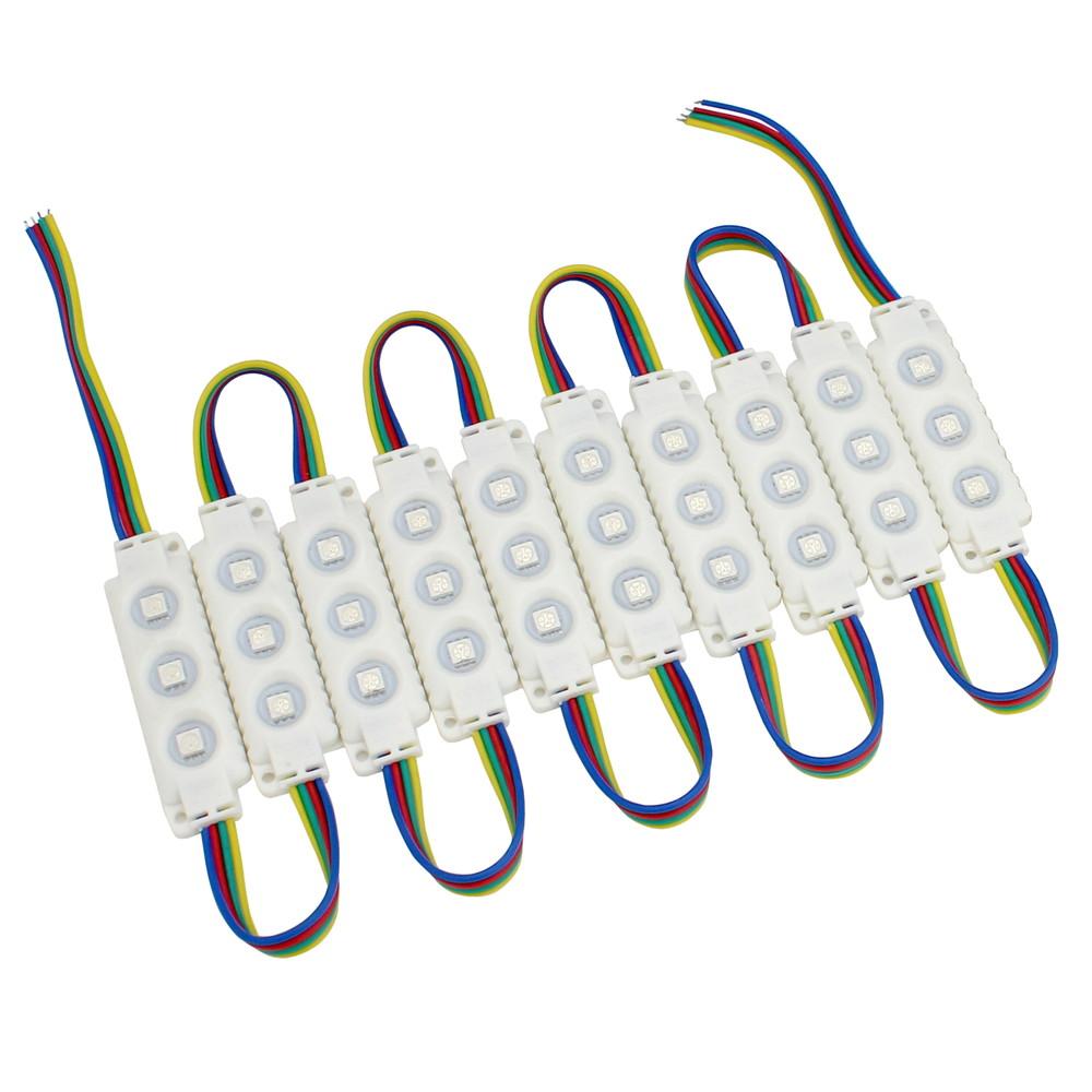 Kaito8906(10連×20set) 防水 3LEDモジュール 12V RGB(フルカラー) 5050