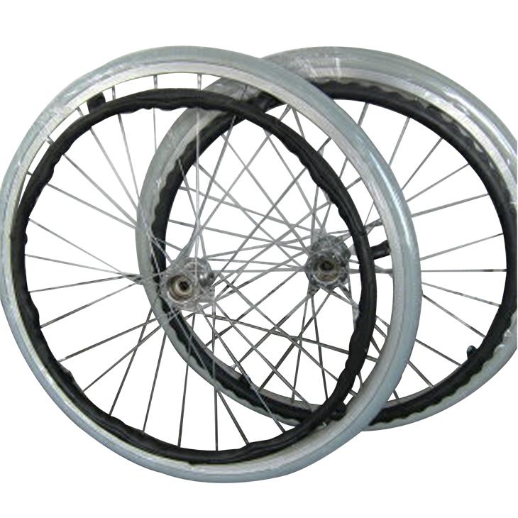 純正部品リア用ホイールタイヤ(グレー)ノーパンクタイヤ カドクラ車椅子専用品