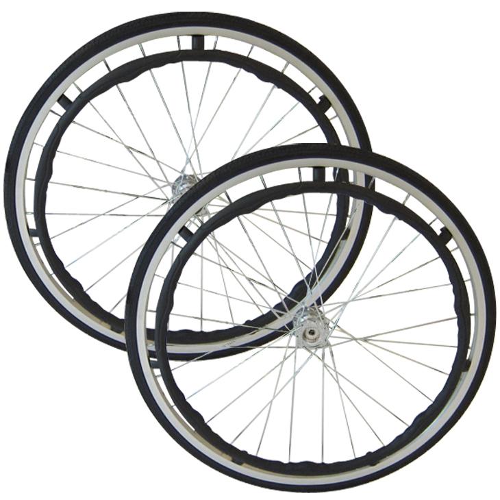純正部品リア用ホイールタイヤ(ブラック) カドクラ車椅子専用品