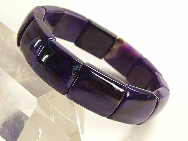 ■龍香堂■☆濃紫スギライトレスレット