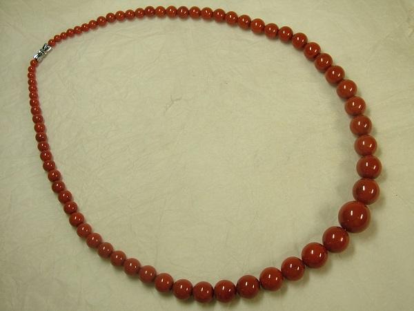■龍香堂■☆南紅瑪瑙(ナンホンメノウ)柿紅(スーホン)大粒ネックレス