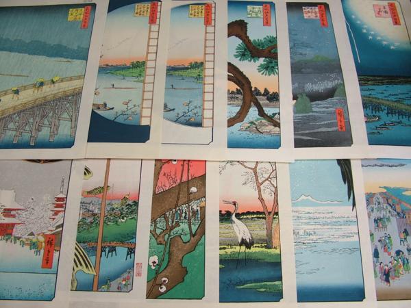 ■龍香堂■☆復刻木版浮世絵 歌川広重『名所江戸百景』12枚セット