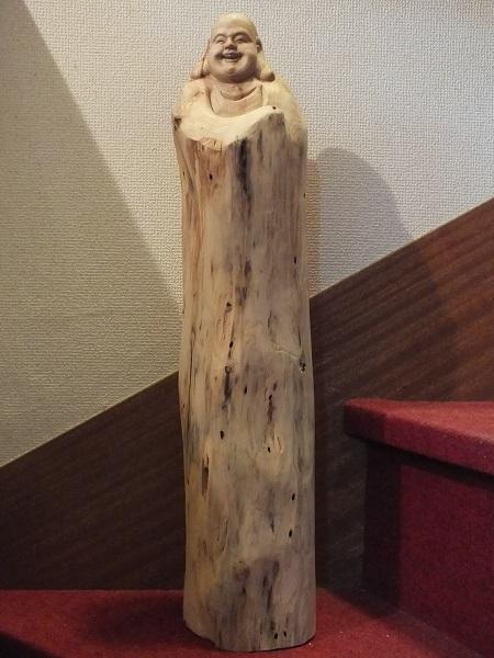 ■龍香堂■☆崖柏(ヤーバイ)置物「布袋」655mm(a)