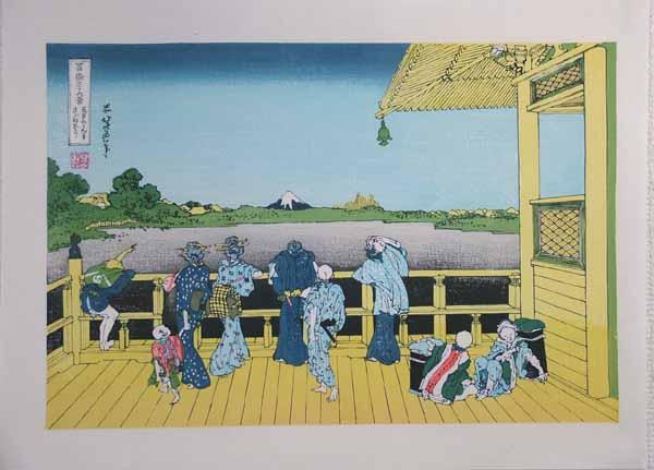 ■龍香堂■復刻木版 葛飾北斎『五百らかん寺さざゐどう』