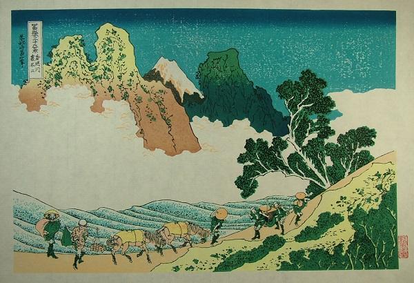 ■龍香堂■「劉長青」復刻木版浮世絵 葛飾北斎『身延川裏不二』