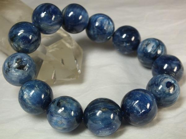 ■龍香堂■☆ネパールカイアナイト(藍晶石)18mm玉ブレスレット(v13)