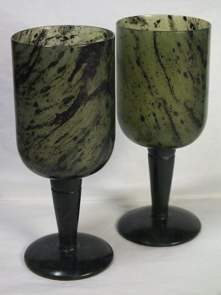 ■龍香堂■☆酒泉「夜光杯」筒型ワイングラス(高99mm/2P)