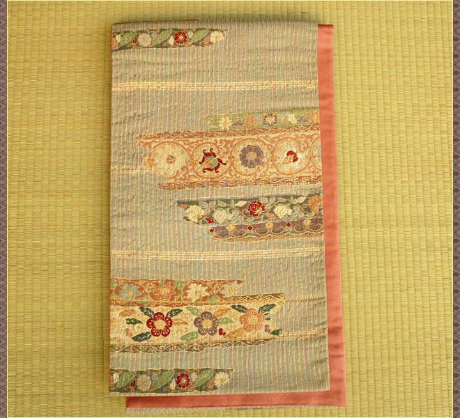 袋帯 正絹 セミフォーマル 刺繍