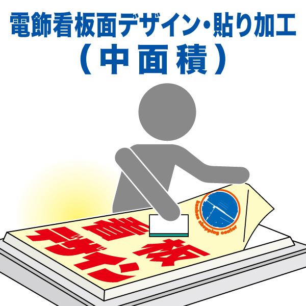 電飾看板面デザイン・貼り加工(中面積)