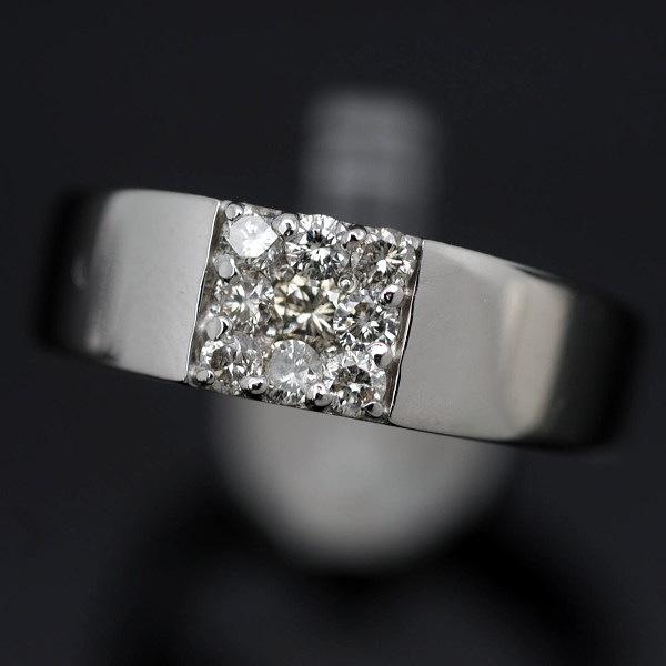 【質屋出店】 ダイヤD0,4/ ♪リング 指輪♪ K18WG/ #15 【JR1479】 【税込価格】 【あす楽対応】 【中古】