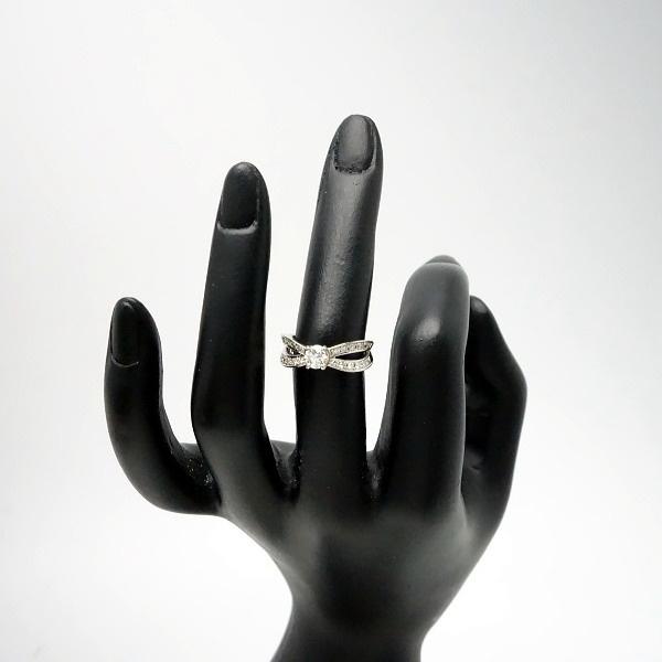 ♪リング 指輪♪ Pt900/ダイヤD0,303 D0,27/#8 【JR948】【税込価格】【質屋出店】【中古】【あす楽対応】