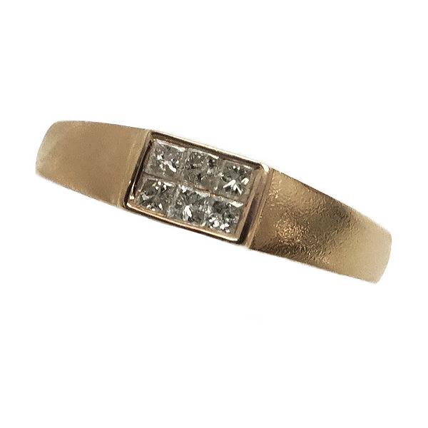 ♪リング 指輪♪ K18PG/ダイヤD0,18/ミステリーセッティング/#16 【JR1596】【税込価格】【質屋出店】【中古】【あす楽対応】