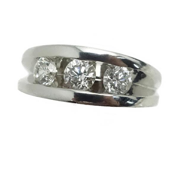 ♪リング 指輪♪ Pt900/ダイヤD0,80/トリロジー/#9 【JR1604】【税込価格】【質屋出店】【中古】【あす楽対応】