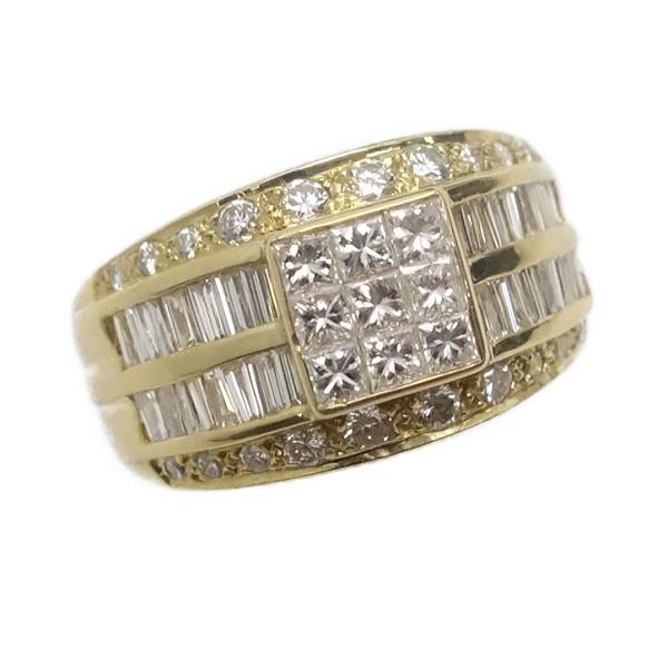 ♪リング 指輪♪ K18YG/ダイヤD1,60/ミステリーセッティング/レール留/#12,5 【JR1620】【税込価格】【質屋出店】【中古】【あす楽対応】