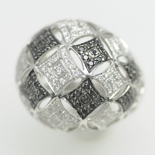 ♪リング 指輪♪ Pt900/ダイヤD1,27/ブラックダイヤ/#12 【JR1641】【税込価格】【質屋出店】【中古】【あす楽対応】