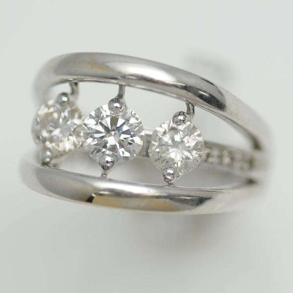 ♪リング 指輪♪ K18WG/ダイヤD1,00/#11 【JR1643】【税込価格】【質屋出店】【中古】【あす楽対応】