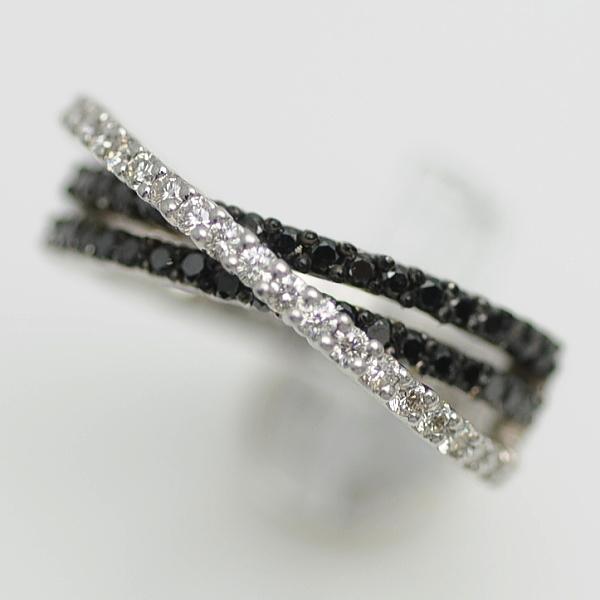 ♪リング 指輪♪ K18WG/ダイヤD0,90/ブラックダイヤ/#11 【JR1649】【税込価格】【質屋出店】【中古】【あす楽対応】