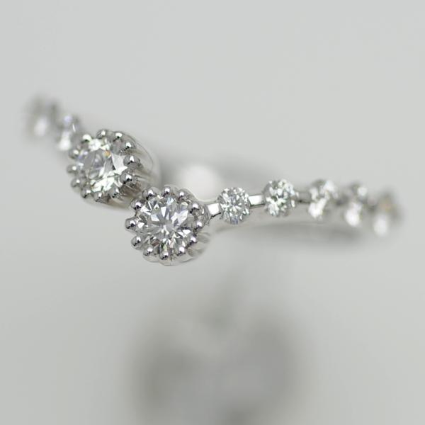 ♪リング 指輪♪ K18WG/ダイヤD0,55/#9 【JR1650】【税込価格】【質屋出店】【中古】【あす楽対応】