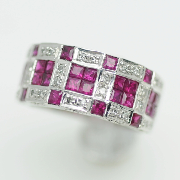 ♪リング 指輪♪ Pt900/ルビーR1,90 ダイヤD0,25/#12 【JR1664】【税込価格】【質屋出店】【中古】【あす楽対応】